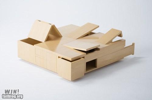 clever,design,drawer,hidden,table