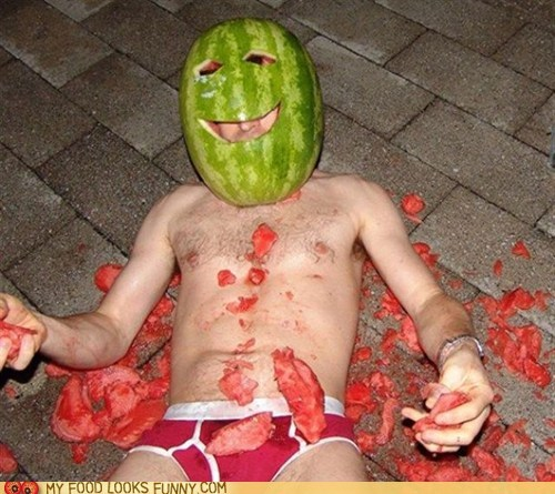 head,helmet,mask,shirtless,watermelon
