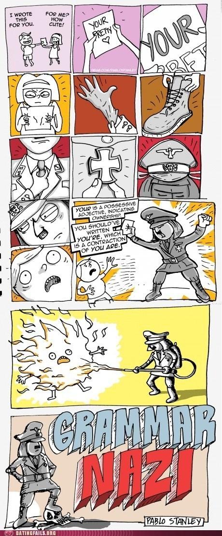 comic,grammar,grammar nazi,love notes