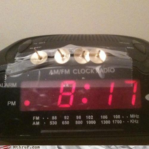 alarm clock,there I fixed it,waking up