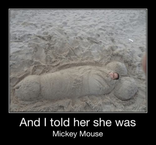 Mickey Mouse looks different...