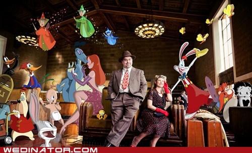 betty boop,cartoons,disney,engagement photos,funny wedding photos,Roger Rabbit