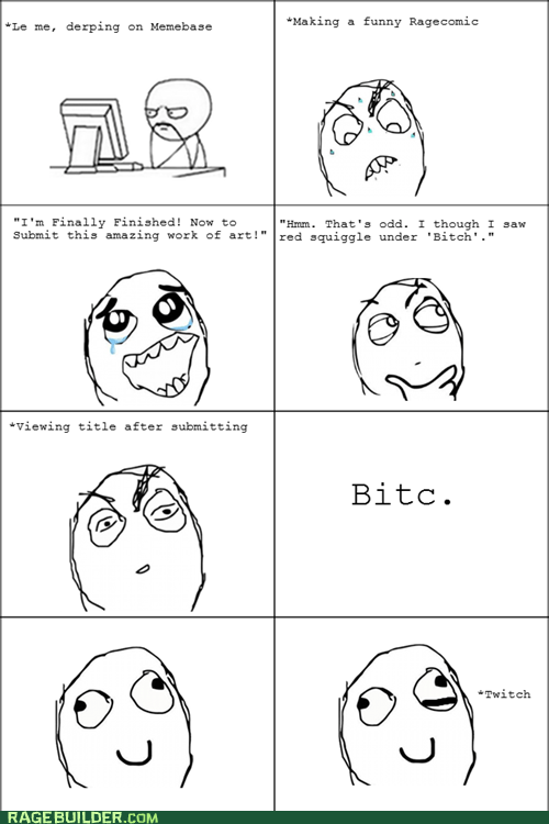 Rage Comics: How Did This Even Make the Front Page? Spelling Fail