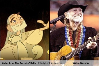 Aidan from The Secret of Kells Totally Looks Like Willie Nelson