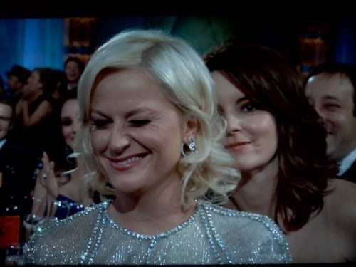 Golden Globes: Tina Fey Photobomb