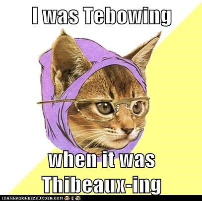 Hipster Kitty: Lemme See Your Tebow!