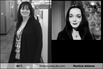 Ali T. Totally Looks Like Morticia Addams