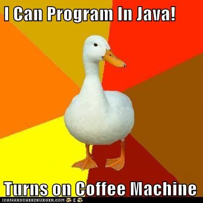 Technologically Impaired Duck: Or is That Javascript?