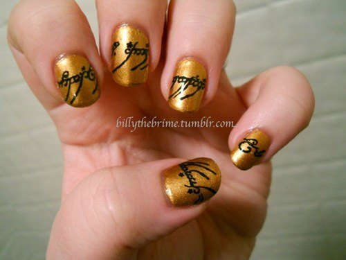 Lord of the Rings Nail Art of the Day