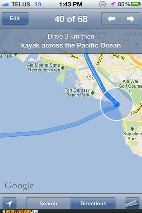 Google Must Be Funded By the Kayak Industry