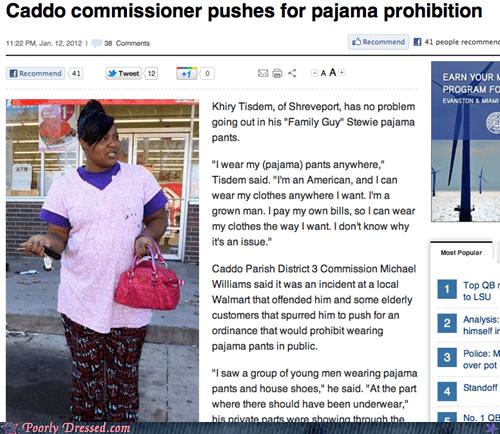 articles,higher standards,pajama ban,Pajama Pants