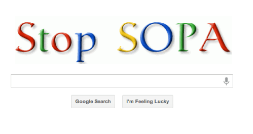 Google SOPA Protest of the Day