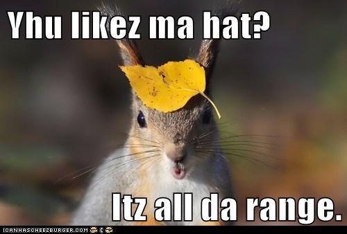 Yhu likez ma hat?  Itz all da range.