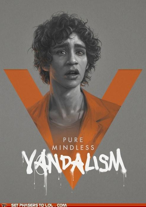 art,mindless,misfits,nathan young,poster,robert sheehan,vandalism