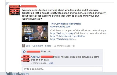 gay rights,not what i meant,spelling,your friends are laughing at you