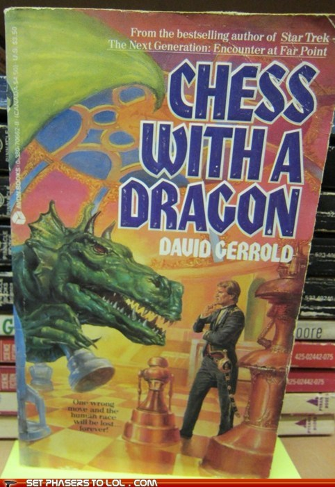 WTF Fantasy Book Covers: Chess with a Dragon