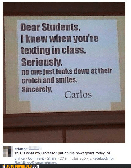 class,classroom,crotch,lecture,professor,school,texting in class
