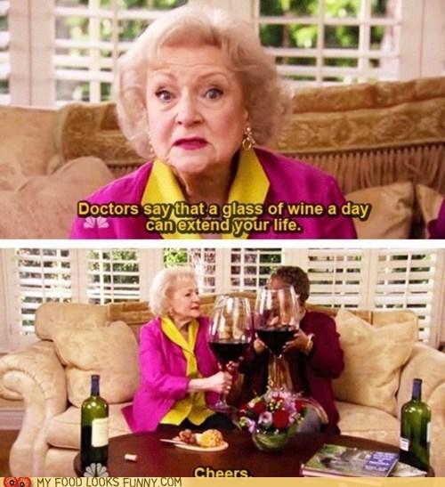 advice,betty white,health,true,wine