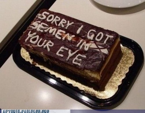 He'll Have To Read The Cake For Her, Though