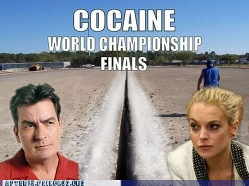 Charlie Sheen,coke,drugs,lindsay lohan,world championship