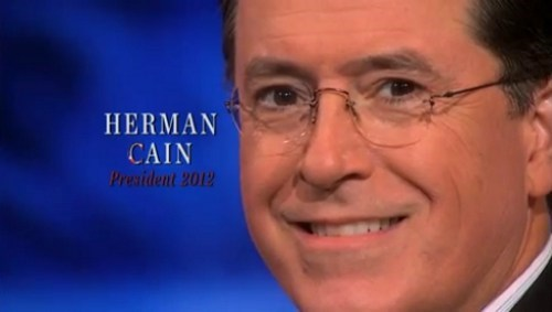 Colbert/Cain 2012 of the Day