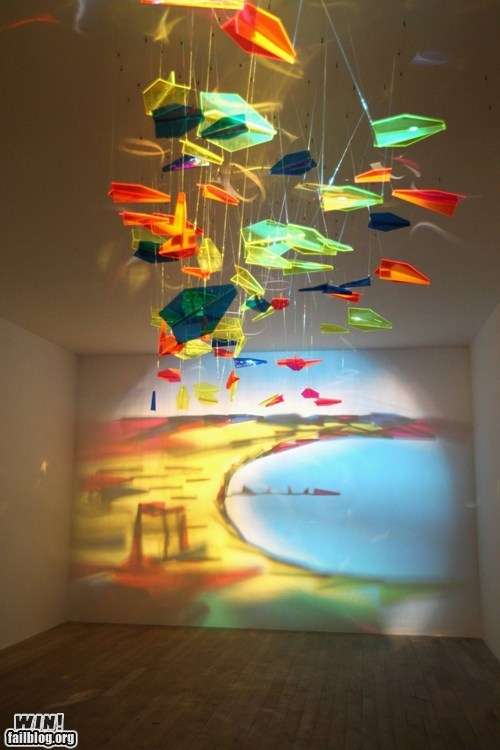 art,glass,light,pretty colors,reflection,refraction