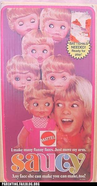 creepy toys,saucy doll,worst nightmares
