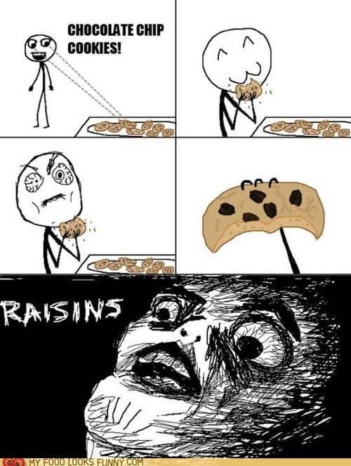 cookies,do not want,gross,Rage Comics,raisins,tricky