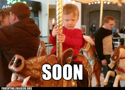 One day he'll get off that carousel and mayhem will ensue
