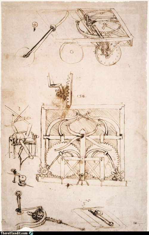 Historical Thursday: Da Vinci's Clockwork Car