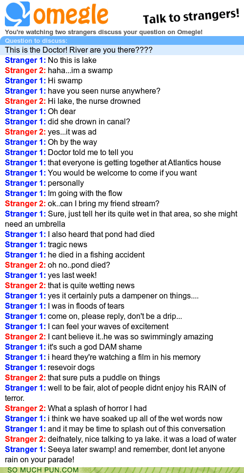 Just Look at the Kind of Things Omegle Precipitates