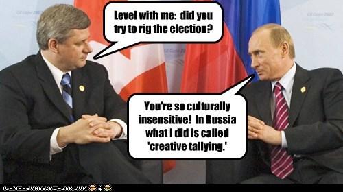 political pictures,stephen harper,Vladimir Putin
