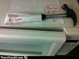 button,door,hammer,microwave,open,opening,pry