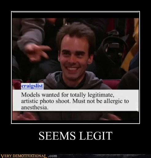 allergic,anesthesia,hilarious,legitimate,model,seems legit