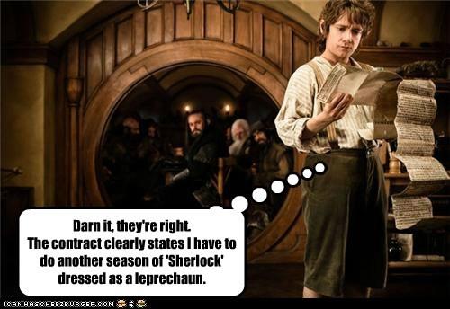 Bilbo Baggins,contract,Martin Freeman,season,Sherlock,The Hobbit