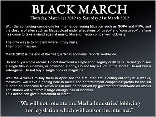 Anti-SOPA Entertainment Boycott of the Day