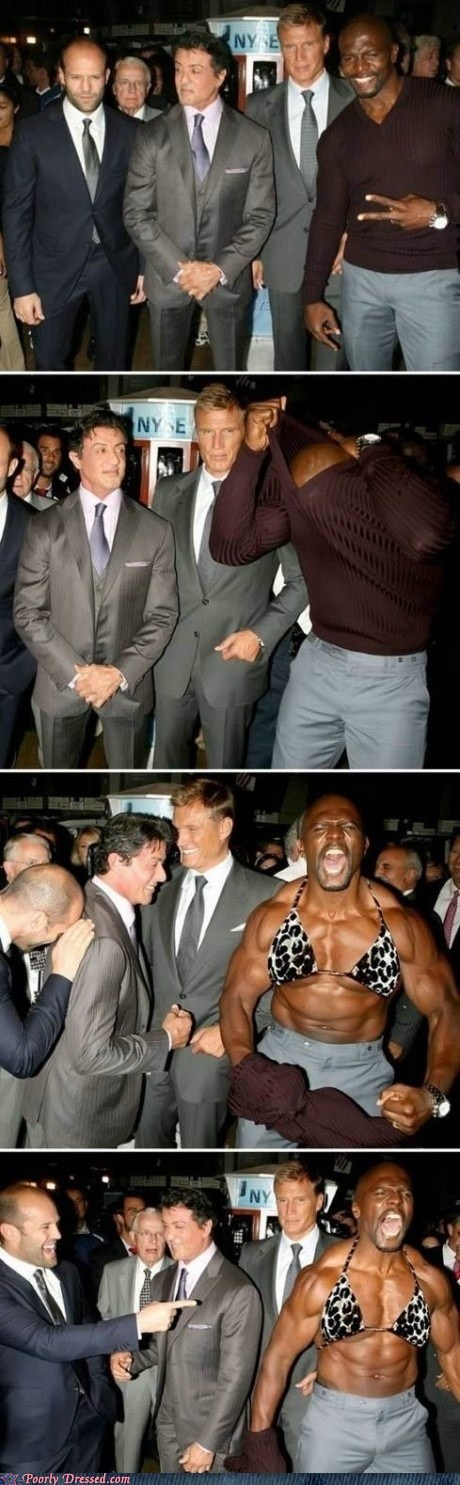 g rated,Hall of Fame,on the red carpet,poorly dressed,terry crews,The Expendables