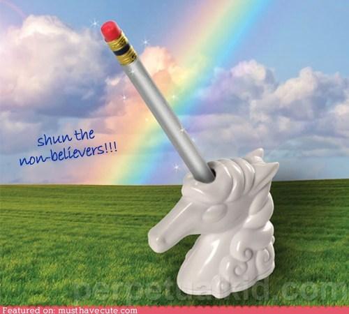 desk,horse,pencil,plastic,sharpener,unicorn
