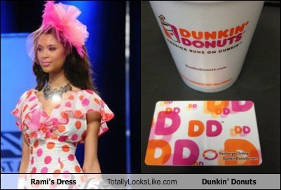 Rami's Dress Totally Looks Like Dunkin' Donuts