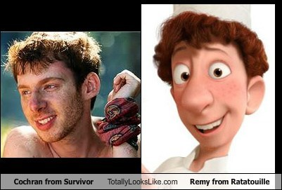 Cochran from Survivor Totally Looks Like Remy from Ratatouille