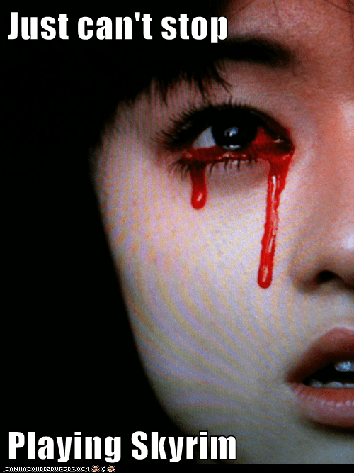 bleeding eyes,fus ro dah,Skyrim,weird kid