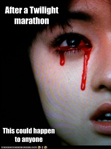 bleeding eyes,marathon,twilight,weird kid