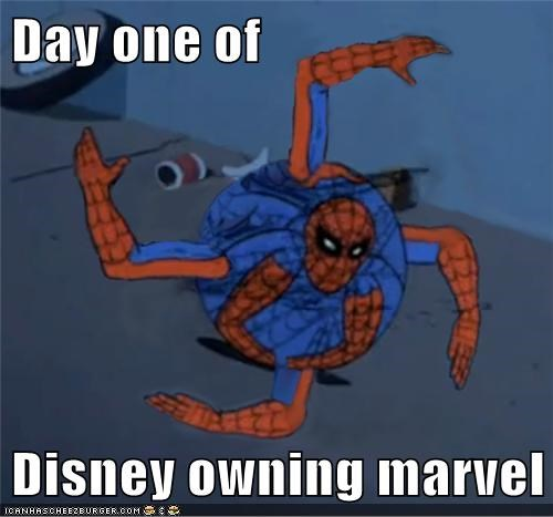 Day one of  Disney owning marvel