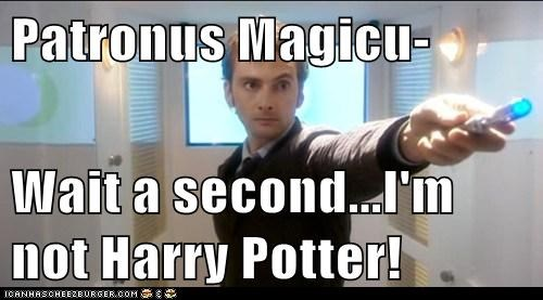 Patronus Magicu-  Wait a second...I'm not Harry Potter!