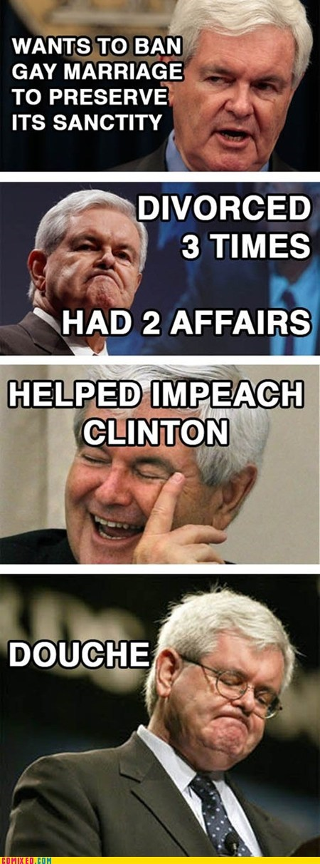 Newt Gingrich Has No Problem Being a Hypocrite