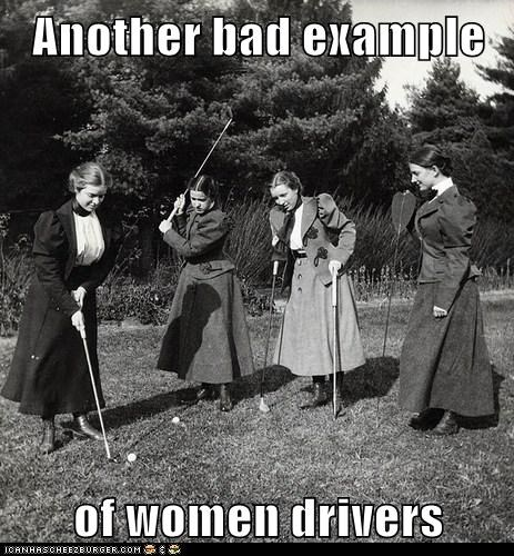 drive,golfing,historic lols,vintage,women,women drivers
