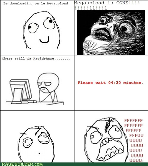 Rage Comics: File Sharing: Now With More Waiting!