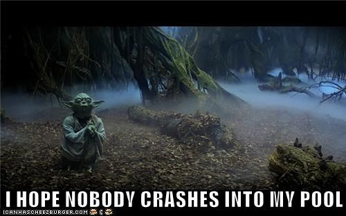 crashes,dagobah,hope,luke skywalker,pool,star wars,swamp,yoda