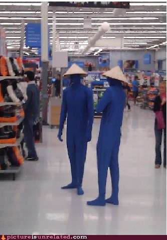 Even the Blue Man Group Needs to Go Shopping