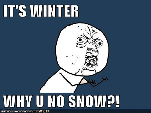 IT'S WINTER  WHY U NO SNOW?!
